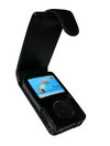 View Item Genuine Leather Case for Sandisk Sansa Fuze Fuse MP3 Player Black Cover Holder